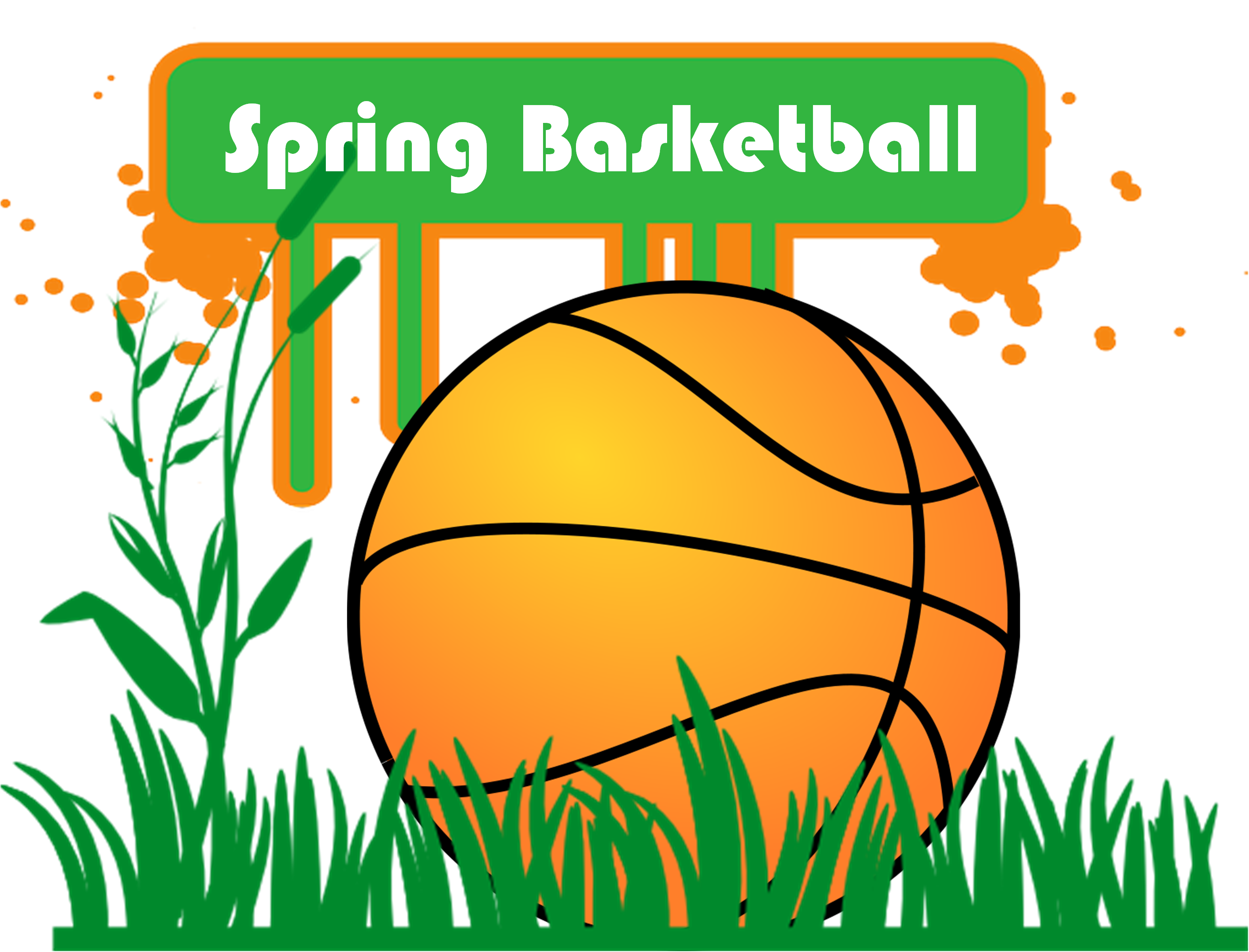 Youth basketball clipart picture black and white stock Spring Basketball – Stonewall Baptist Church picture black and white stock
