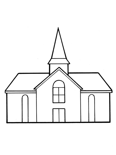 Lds clipart church vector library download Church black and white clipart 7 » Clipart Station vector library download