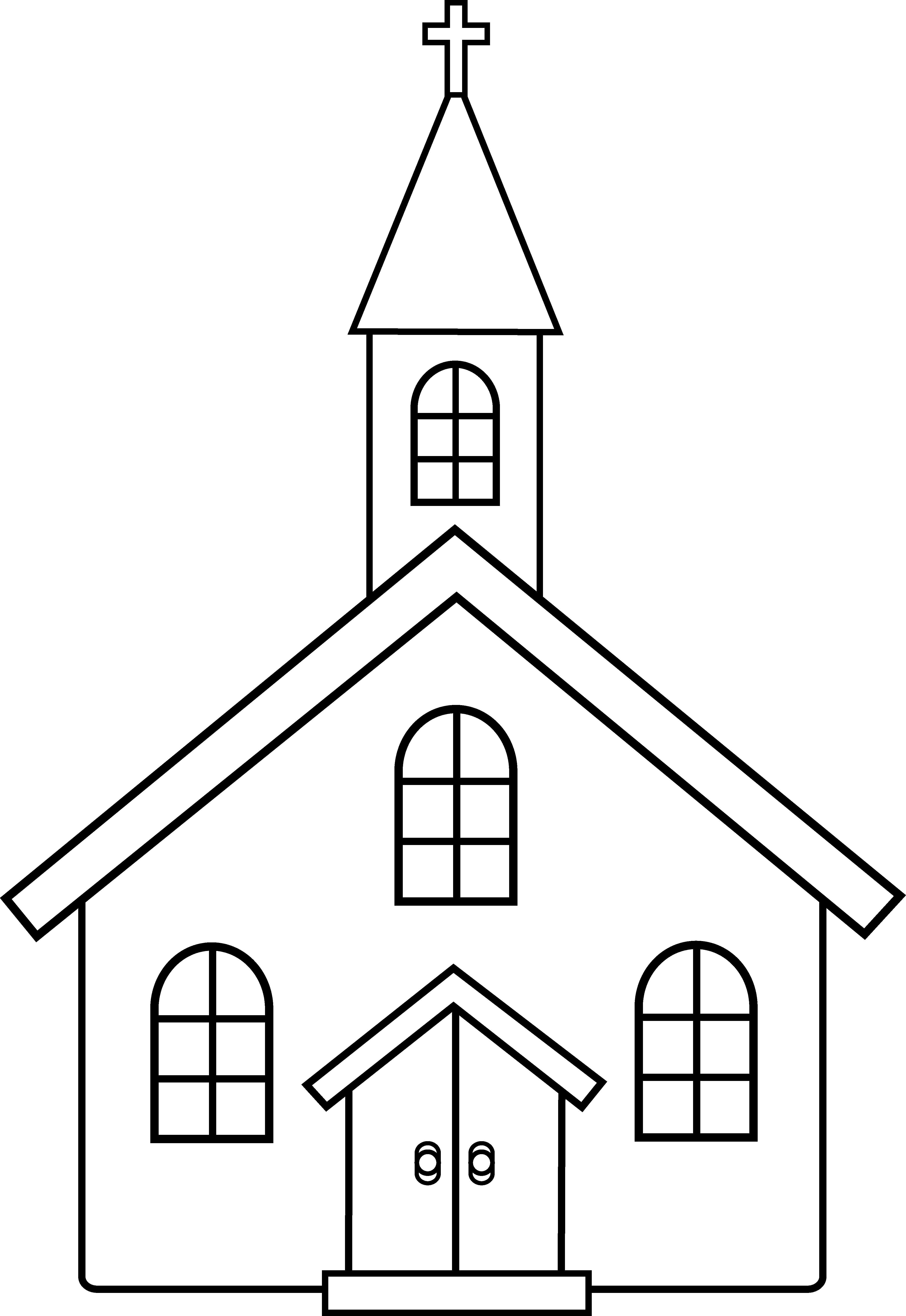 Church black and white clipart vector free Free church clipart black and white clip art - ClipartPost vector free