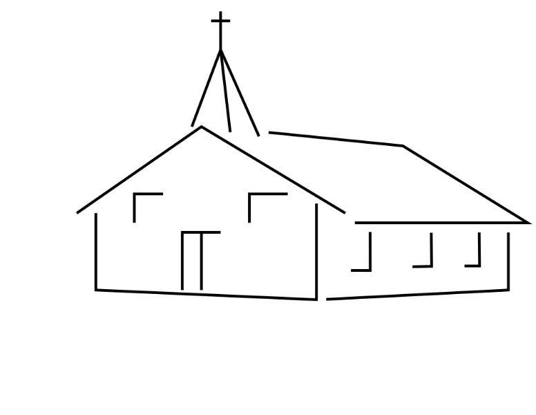 Church building roof clipart jpg transparent stock Church house clipart 2 - WikiClipArt jpg transparent stock