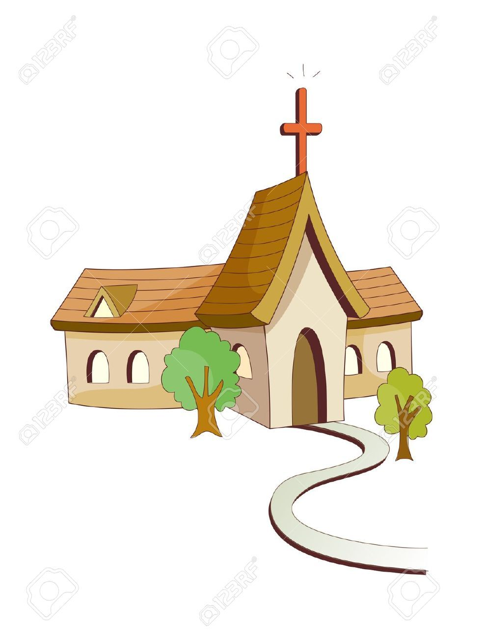 Church building roof clipart banner royalty free stock Pin by Oscar Daniels on church   Vector icons, Clip art, Church building banner royalty free stock