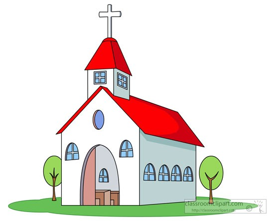 Church building roof clipart png library stock White church red roof cross clipart » Clipart Portal png library stock