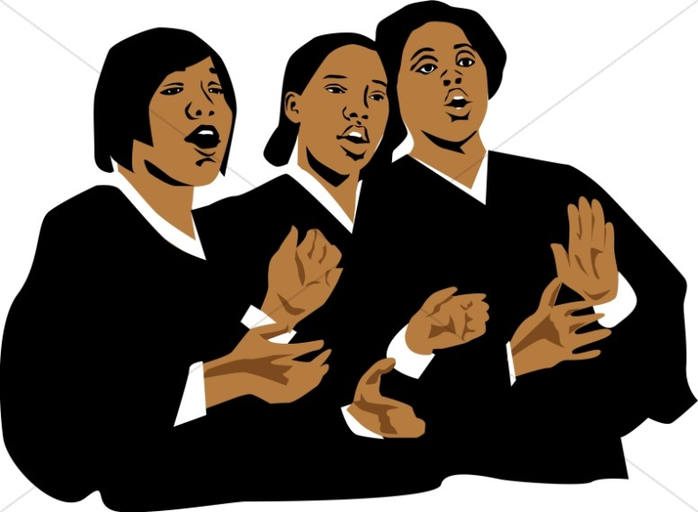Church singing clipart vector freeuse stock Three Church Singers | Church Choir Clipart vector freeuse stock
