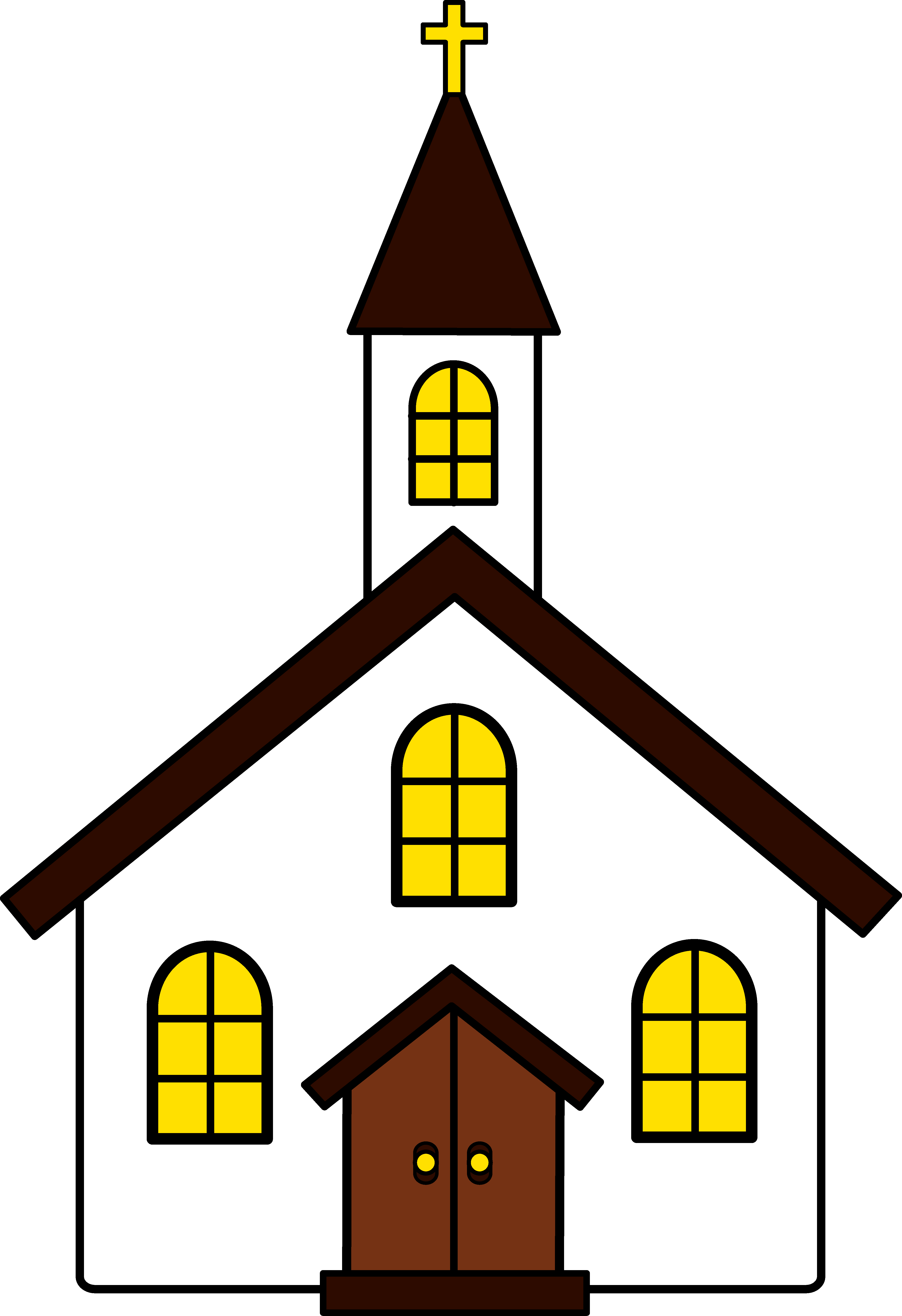 A divided house clipart clip art free stock Black Church Clip Art | Clipart Panda - Free Clipart Images clip art free stock