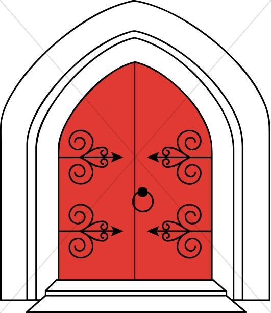 Church doors clipart