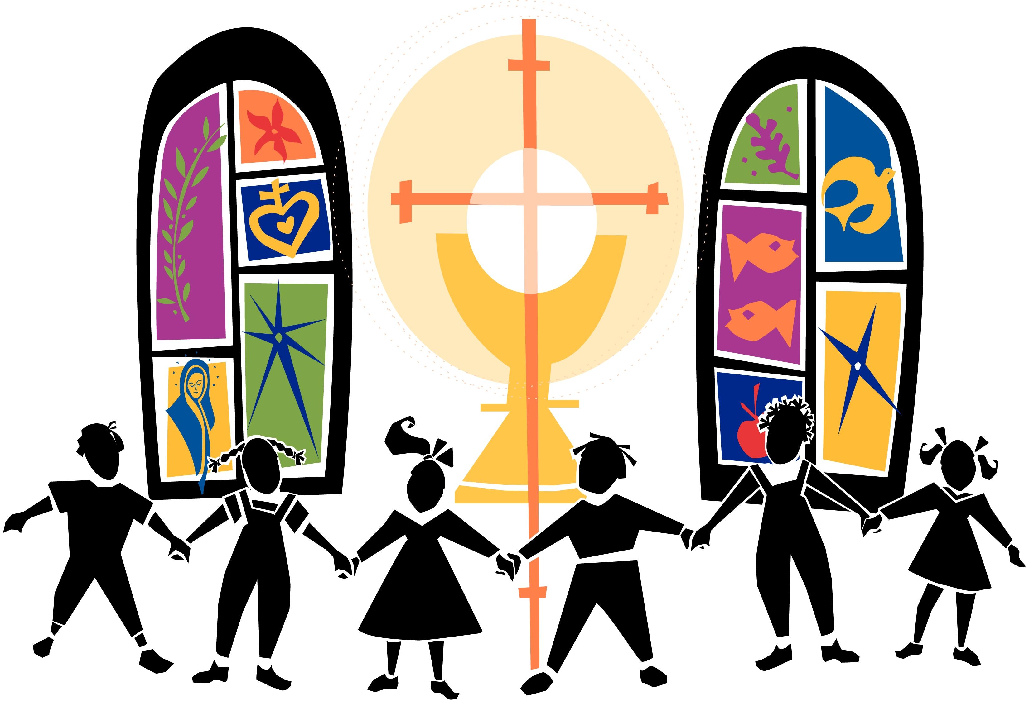 Christian cross children clipart vector Religious education clipart 10 » Clipart Station vector