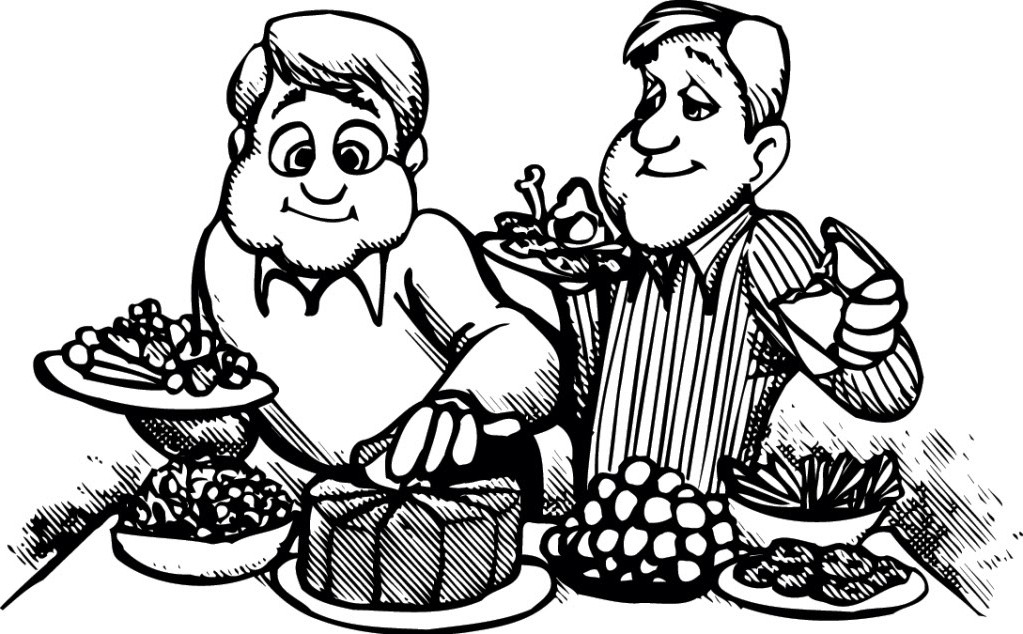 Church fellowship and eating black and white clipart jpg royalty free stock Free Fellowship Meal Cliparts, Download Free Clip Art, Free Clip Art ... jpg royalty free stock