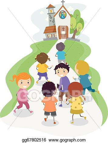 Church kids clipart graphic royalty free stock Vector Stock - Church kids. Clipart Illustration gg67802516 - GoGraph graphic royalty free stock