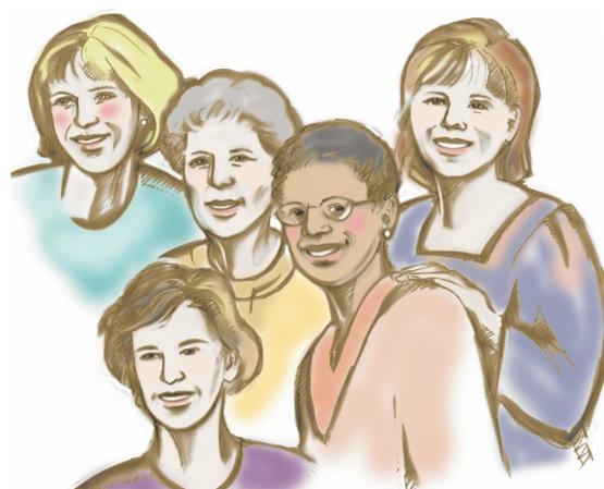 Women s support group clipart