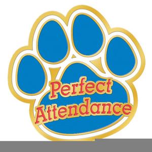 Perfect attendance clipart
