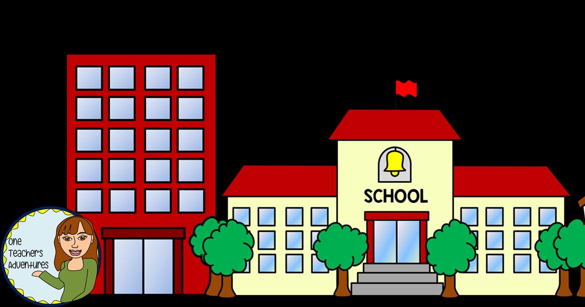 Church school clipart graphic transparent stock One Teacher's Adventures: Community Buildings Clip Art Set graphic transparent stock