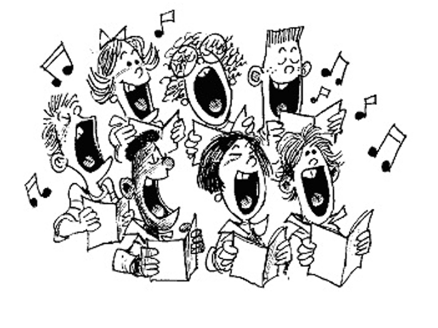 Church singing clipart png black and white Choir Singer Clipart & Clip Art Images #1692 - clipartimage.com png black and white