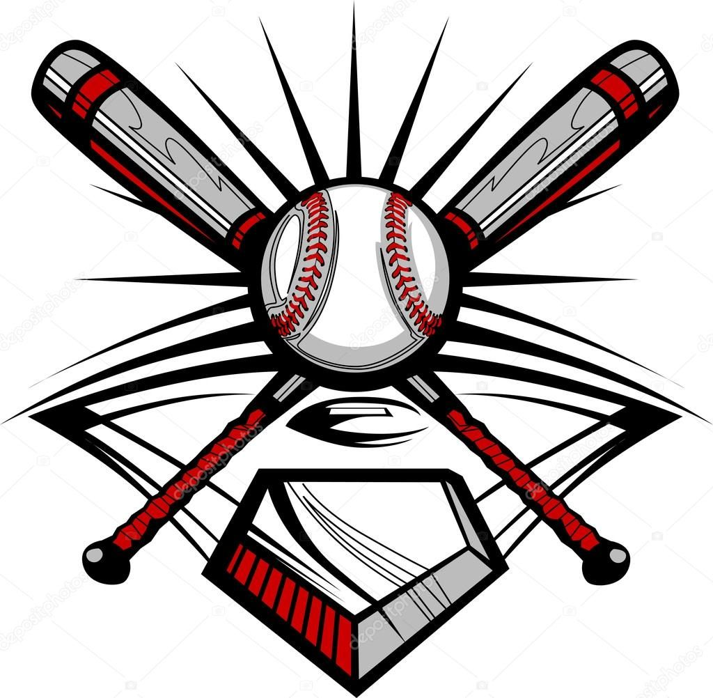 Church softball clipart clip library stock Download royalty-free Vector Template of a Softball Bats, Baseball ... clip library stock
