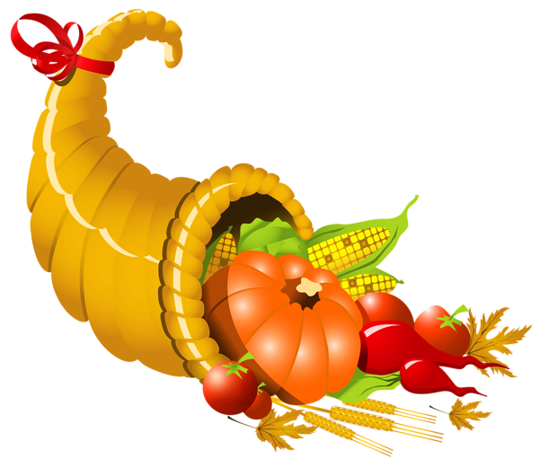 Thanksgiving church meal clipart vector library library Thanksgiving Cornucopia PNG Image | frutas | Pinterest ... vector library library