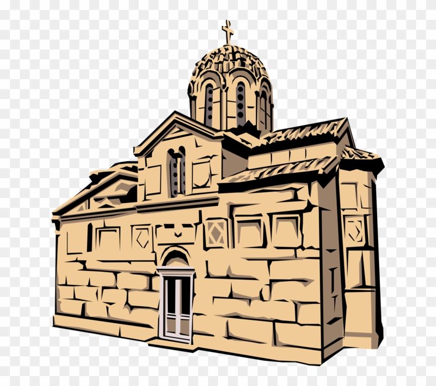 Church vector clipart royalty free stock Vector Illustration Of Greek Christian Orthodox Church Clipart ... royalty free stock
