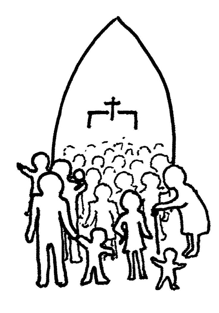 Church with people clipart vector black and white download Church People Clipart | Free download best Church People Clipart on ... vector black and white download