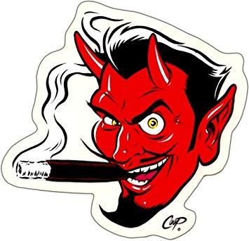 Cigar devil clipart svg download Devil Smoking a Cigar by Coop - Sticker / Decal, Decals & Bumper ... svg download