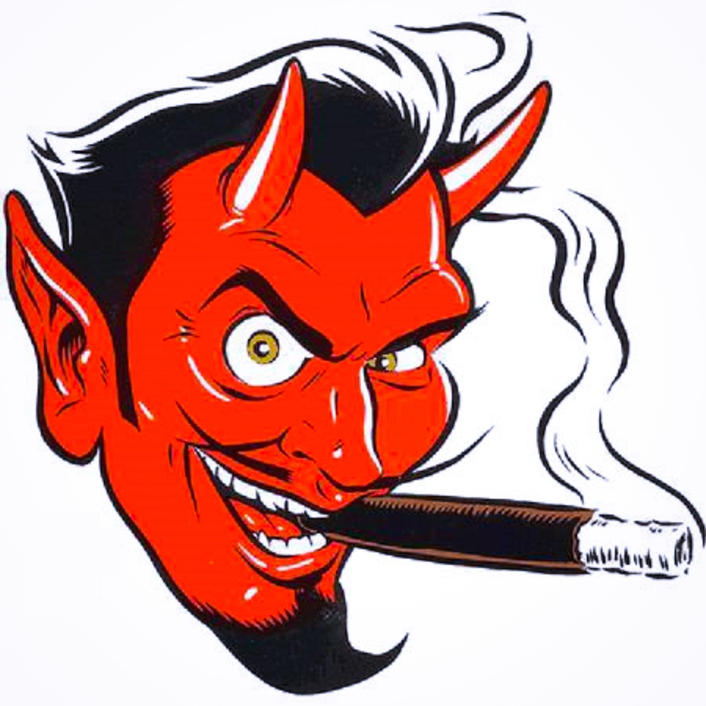 Cigar devil clipart image royalty free download Devil\'s Face with Cigar   Brushes & Booze idea board   Devil tattoo ... image royalty free download