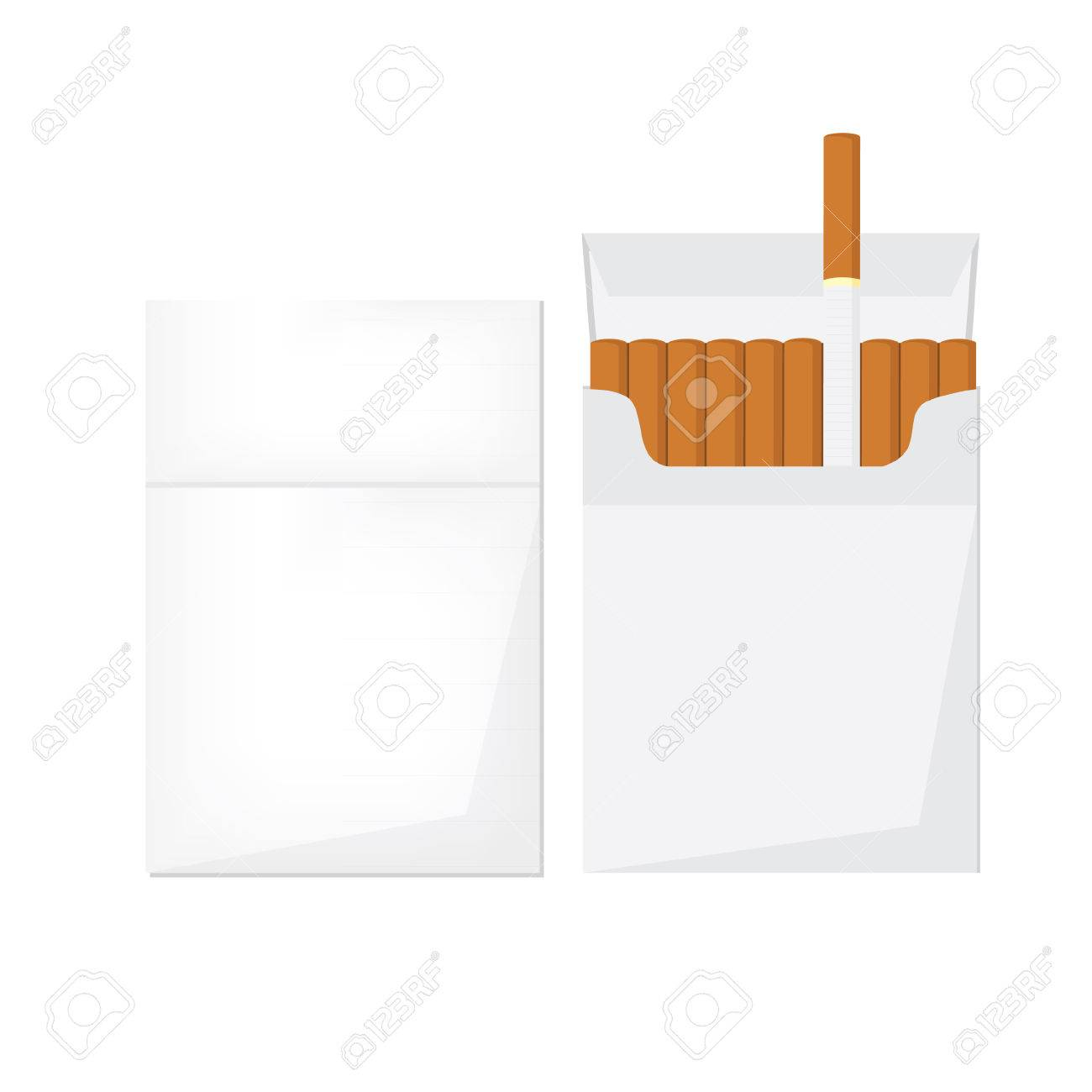 Cigarette pack clipart freeuse stock Opened And Closed Cigarette Pack With Cigarettes Vector Illust ... freeuse stock