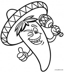 Cinco de mayo clipart black & white small vector transparent Cinco de Mayo Coloring Pages for Preschoolers | Art | Cinco de mayo ... vector transparent