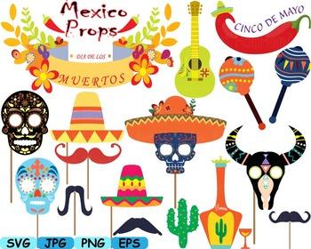Cinco de mayo fiesta clipart svg library stock Mexico Props Fiesta Clipart Mexican birthday cinco de mayo SVG fiesta hats  -175s svg library stock