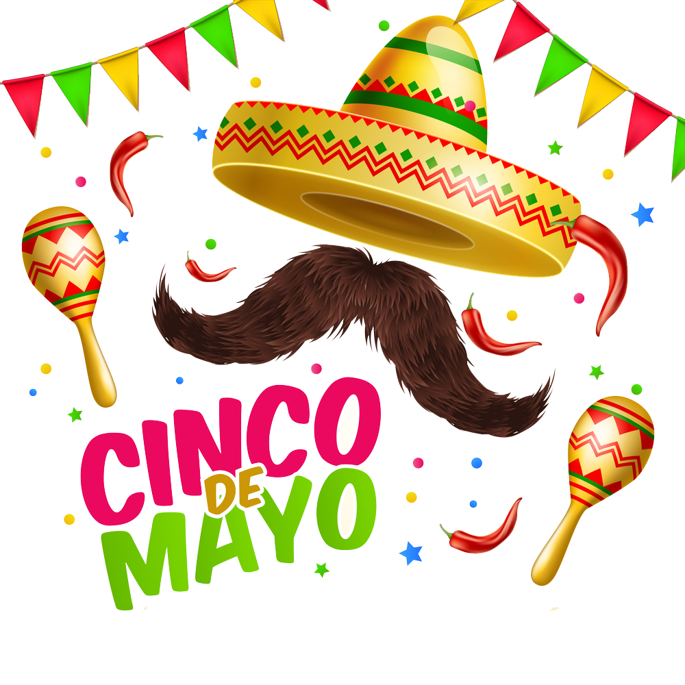 Cinco de mayo flower clipart clipart black and white stock Cinco De Mayo PNG Image - peoplepng.com clipart black and white stock
