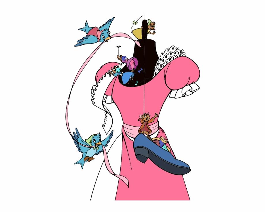 Cinderella birds clipart png download Dress Svg Cinderella Cinderella Birds And Mice - Clip Art Library png download