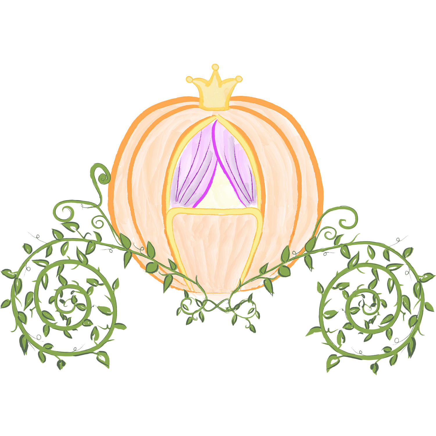 Pumpkin carriage clipart vector royalty free download Cinderella Prince Charming Pumpkin Carriage Clip art - Hand painted ... vector royalty free download