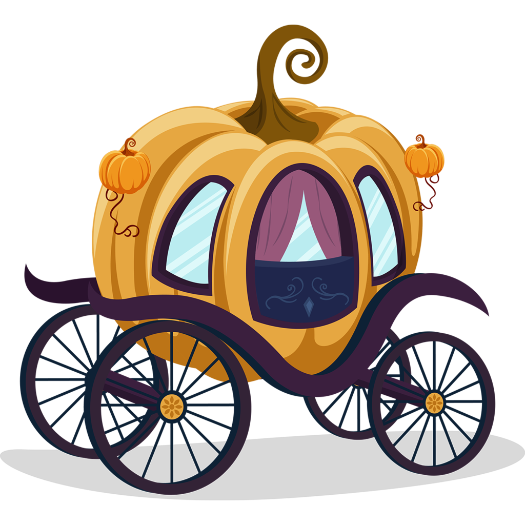 Pumpkin carriage clipart image black and white library Cinderella Carriage Pumpkin Cartoon Clip art - Cartoon classic ... image black and white library