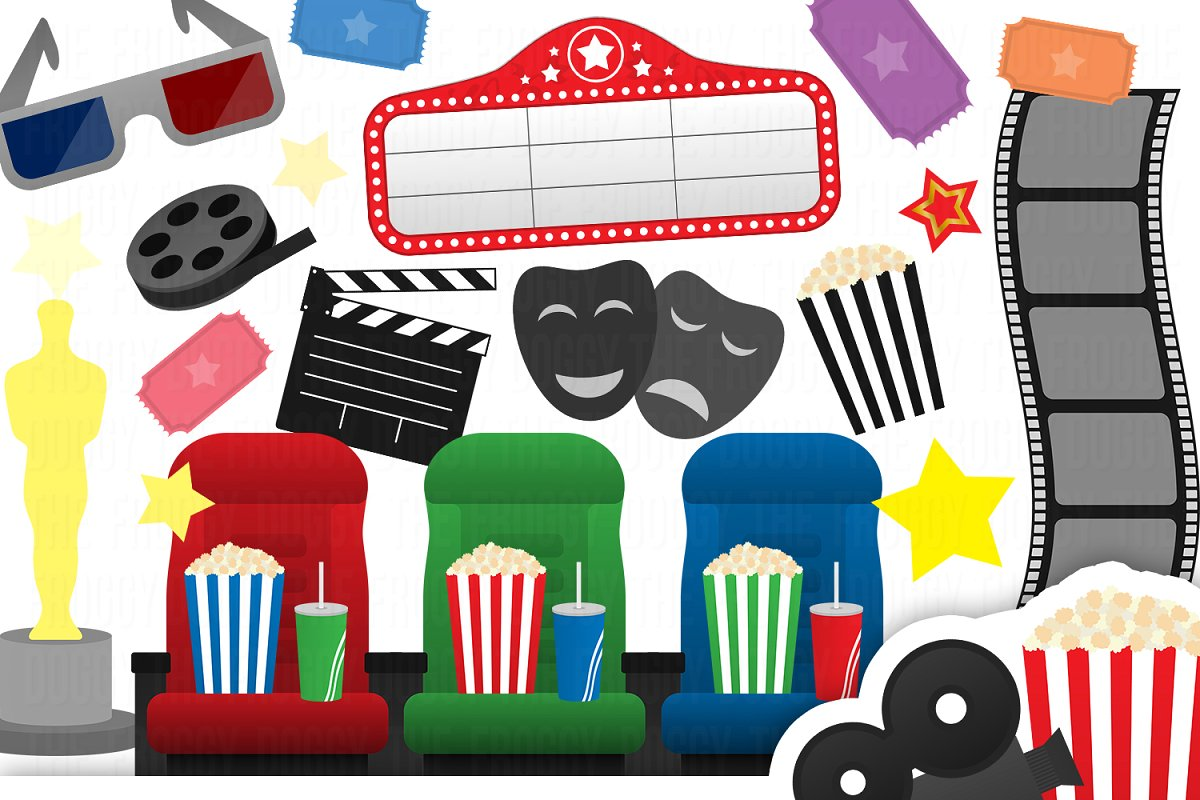 Cinema clipart image black and white download Cinema Clipart Collection image black and white download