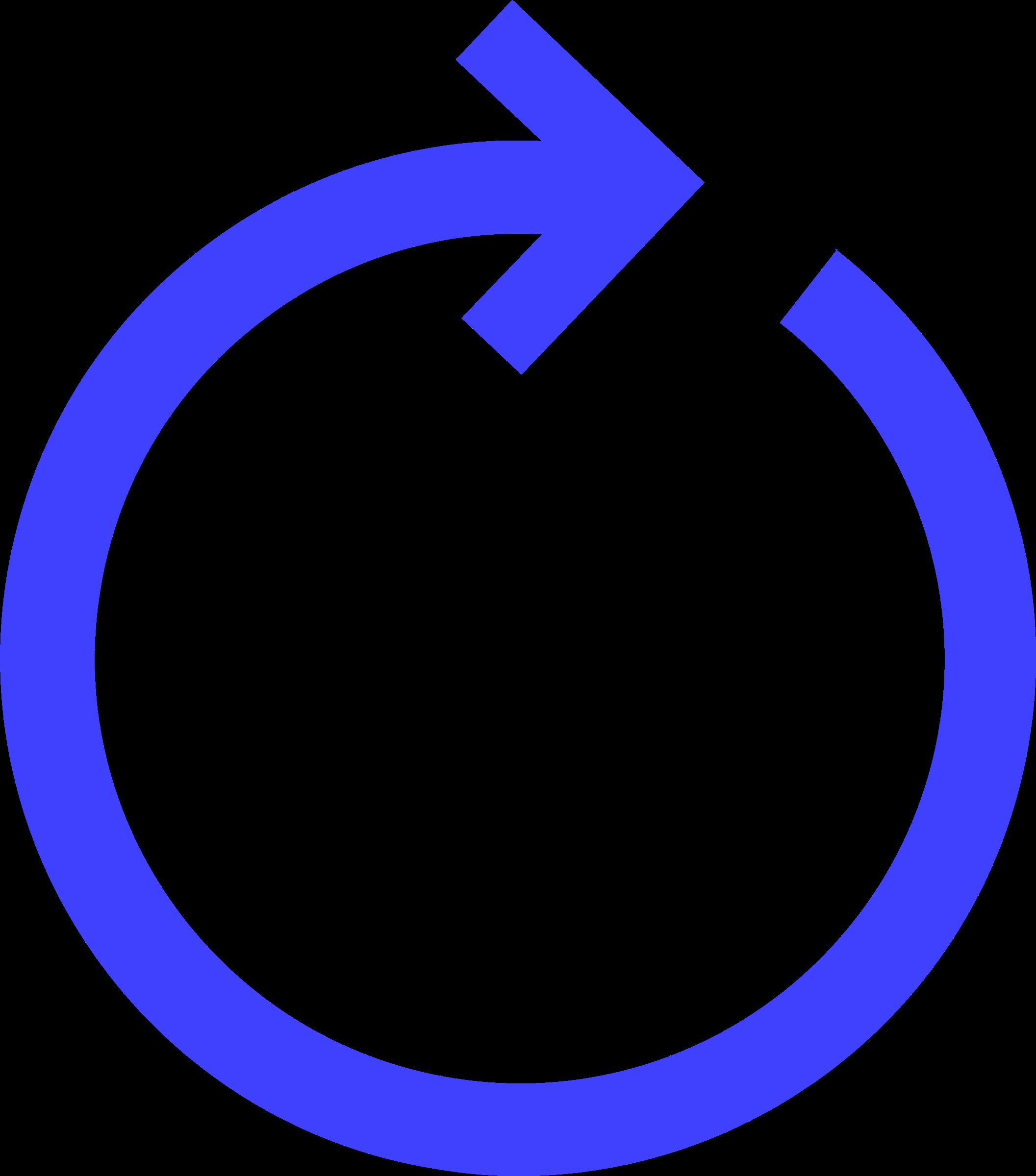 Circular blue big image. Clipart arrow circle