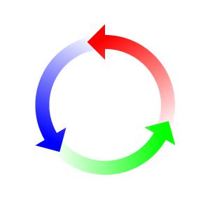 Circle arrow return clipart