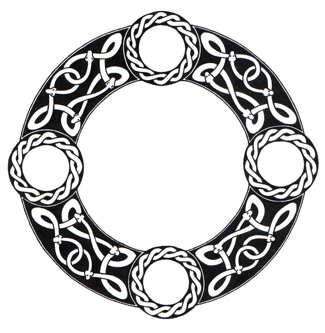 Circle border clipart viking vector freeuse stock Celtic circle Tattoo | Scandinavian Knot Circle by *ppunker on ... vector freeuse stock