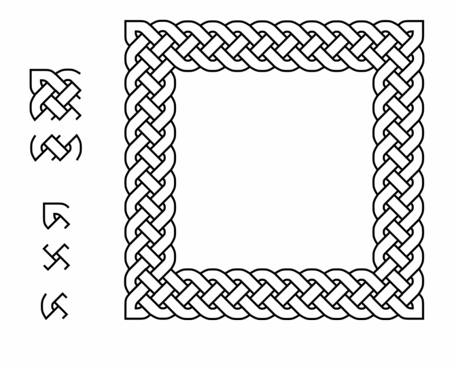 Circle border clipart viking picture library stock Celtic Knot Celts Information Braid - Square Celtic Knot Border Free ... picture library stock