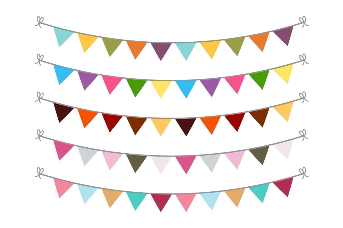 Circle bunting clipart graphic freeuse stock 15 Buntings Clipart, Bunting Banner Clipart, Bunting SVG, Bunting ... graphic freeuse stock