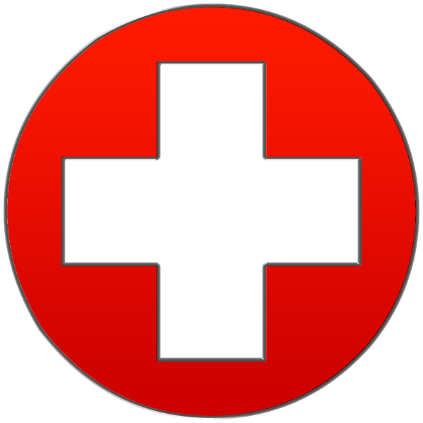 Red Cross Symbol Clipart svg black and white stock