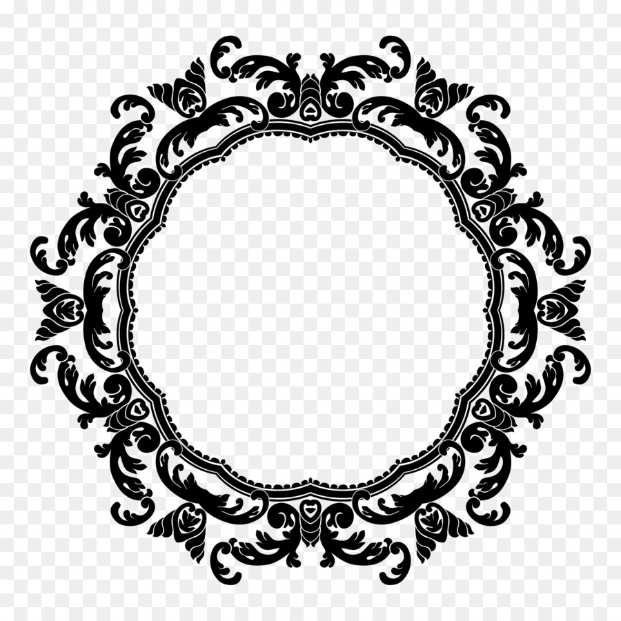 Circle design clipart vector freeuse library Black And White Flower clipart - Flower, Circle, Design, transparent ... vector freeuse library