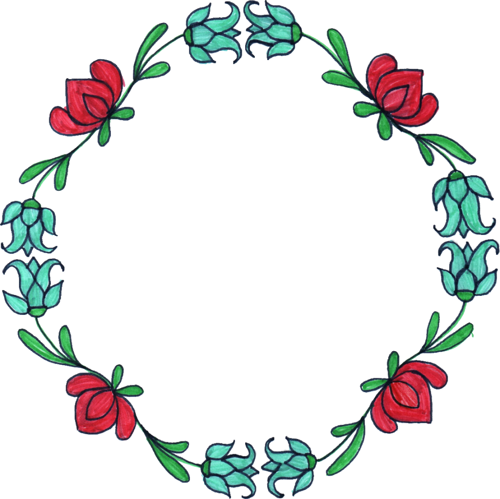 Flower circle border clipart banner royalty free Flower Circle Drawing at GetDrawings.com | Free for personal use ... banner royalty free