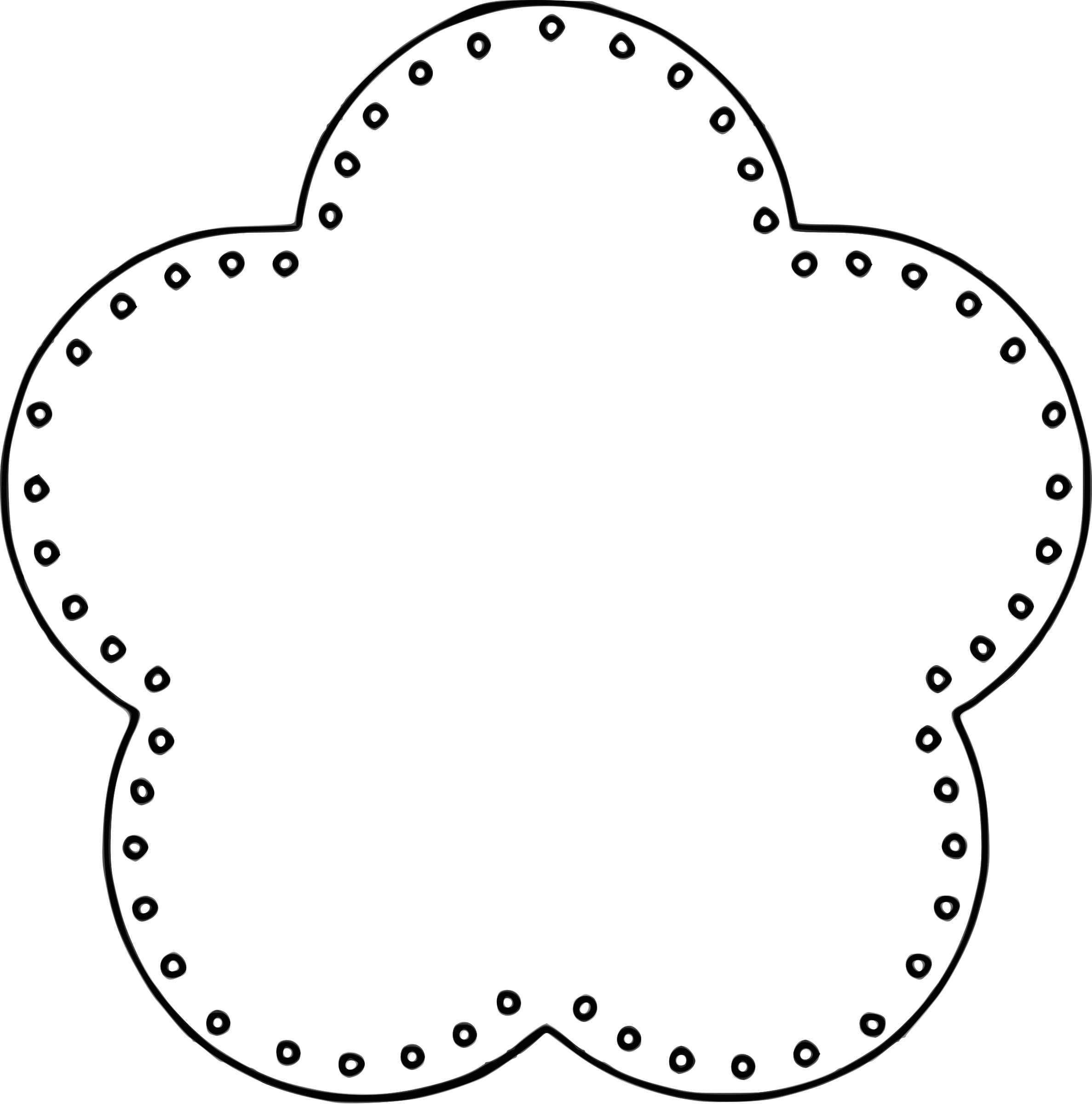 Flower petal outline clipart image Clipart - Flower 5 Scallop Circle Background, eyelets image