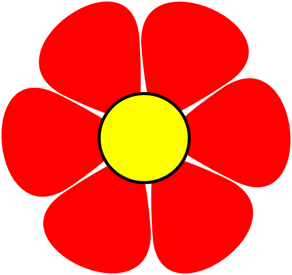 Red flower clipart image Red Flower Png Clipart image