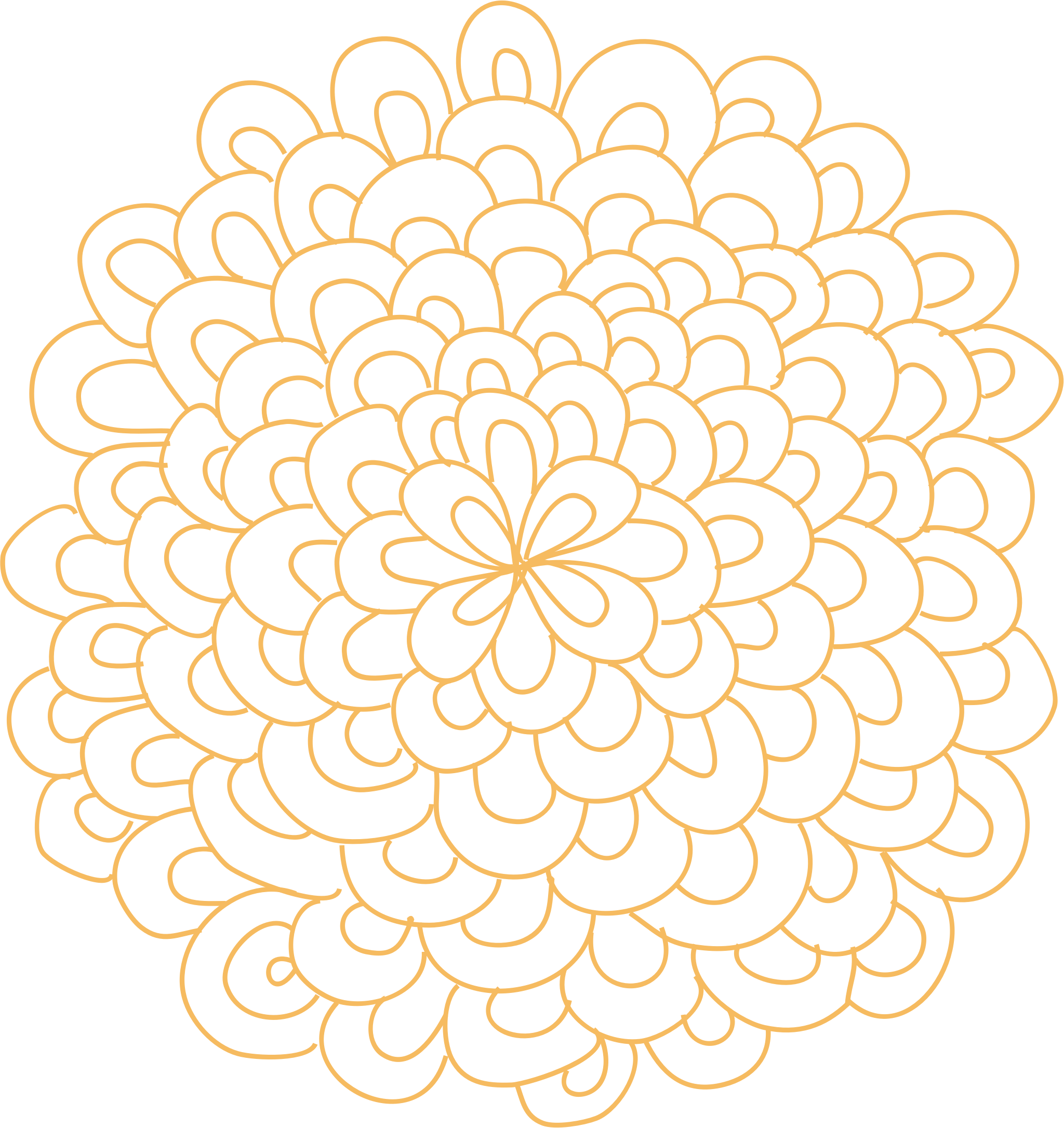 Circle flower clipart clipart free download Clipart - Rosette Flower Clipart clipart free download