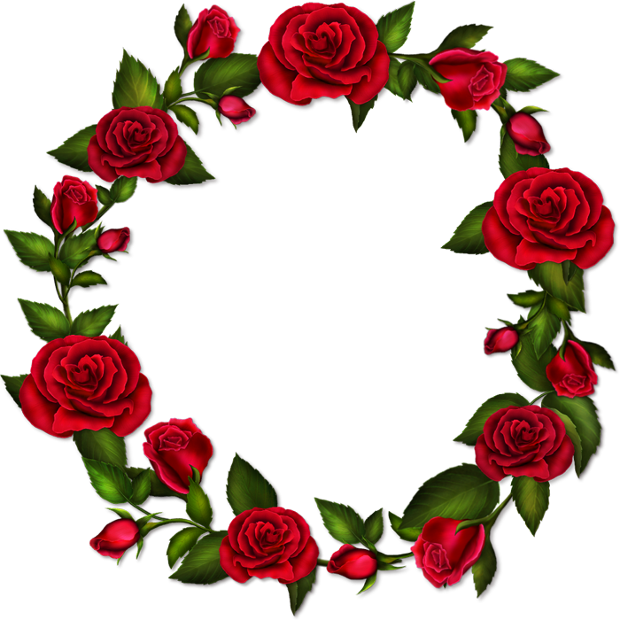 Circle flower clipart graphic free stock Circle Roses Transparent Frame | Gallery Yopriceville - High ... graphic free stock