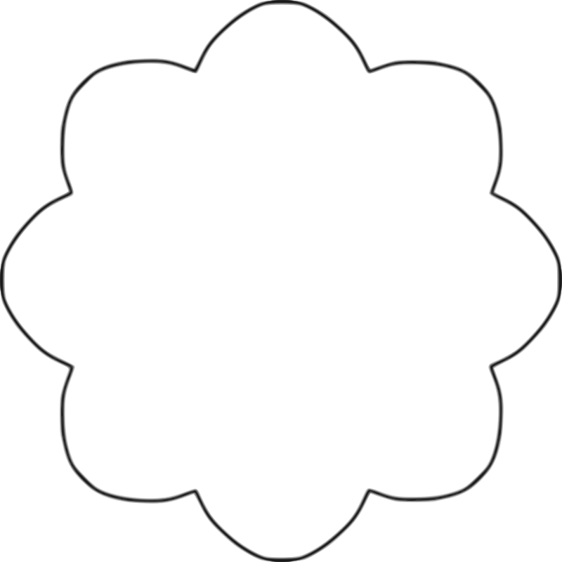 Flower clipart black background. Free clip art scallop