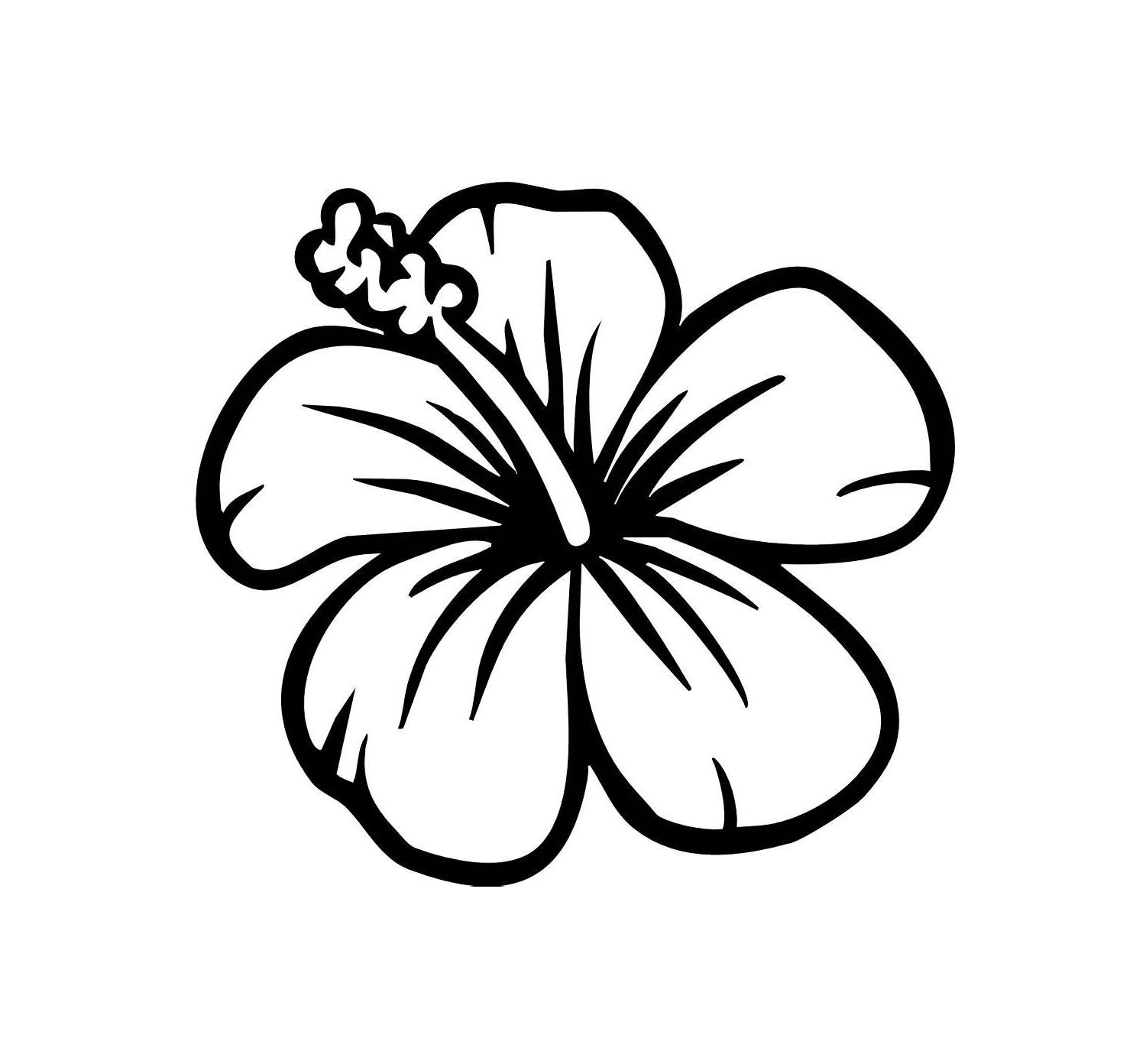 Circle hawaiian leaves black and white clipart free library Easy To Draw Hawaiian Flowers - Drawing And Sketches - ClipArt Best ... free library