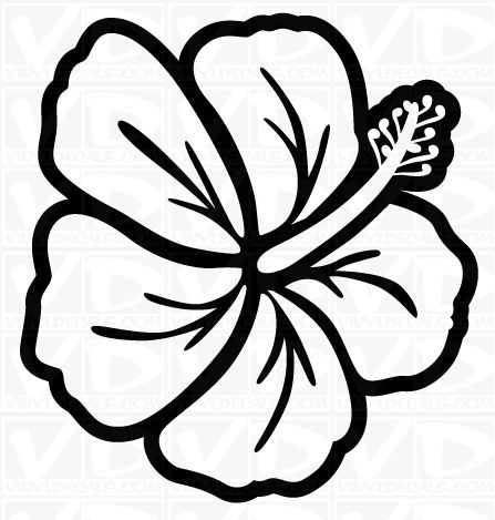 Circle hawaiian leaves black and white clipart picture download Hawaiian Flower Clip Art Clipart - Free Clipart | drawing | Hawaiian ... picture download