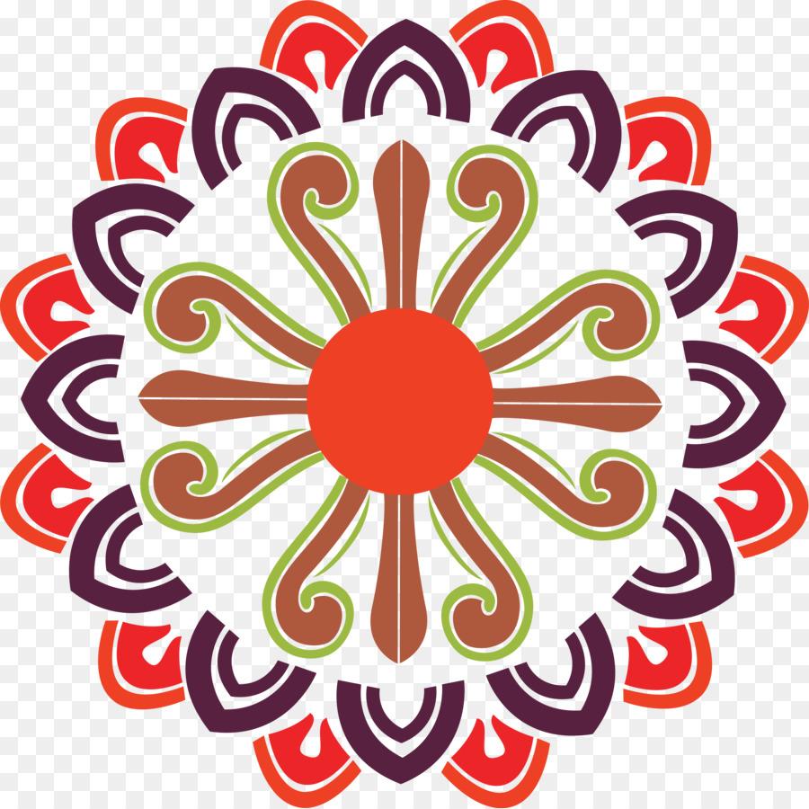 Circle logo design clipart svg black and white download Flower Line Art clipart - Design, Rangoli, Drawing, transparent clip art svg black and white download