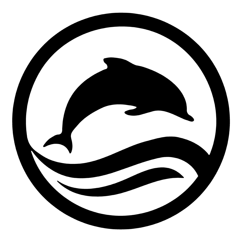 Circle of dolphins clipart