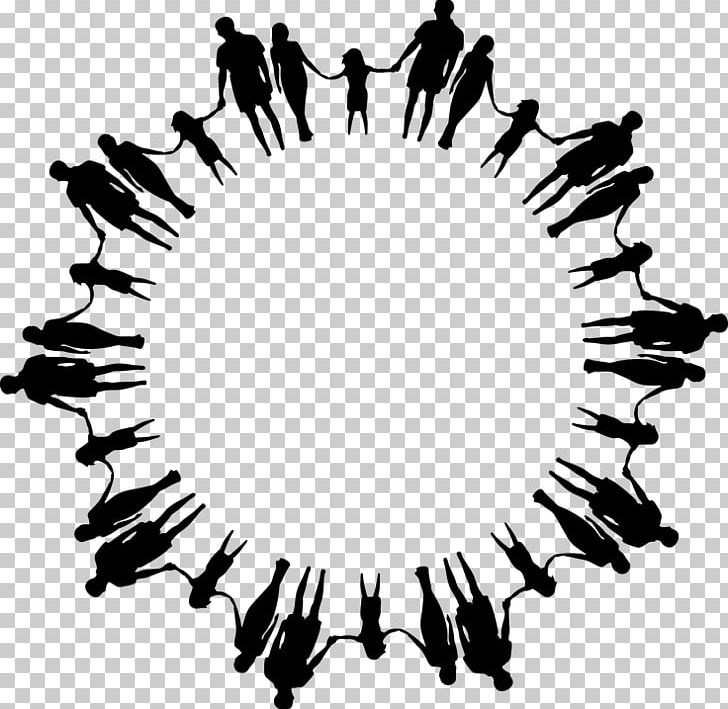 Circle of hands black and white clipart image library download Circle Holding Hands PNG, Clipart, Black, Black And White, Circle ... image library download