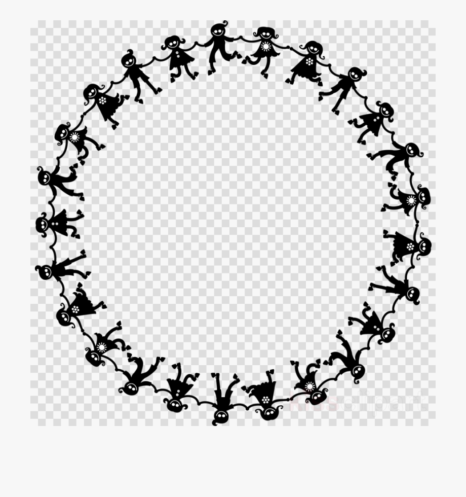 Circle of hands black and white clipart image freeuse download Circle Of Kids Holding Hands Clipart Clip Art - Clip Art Kids In A ... image freeuse download