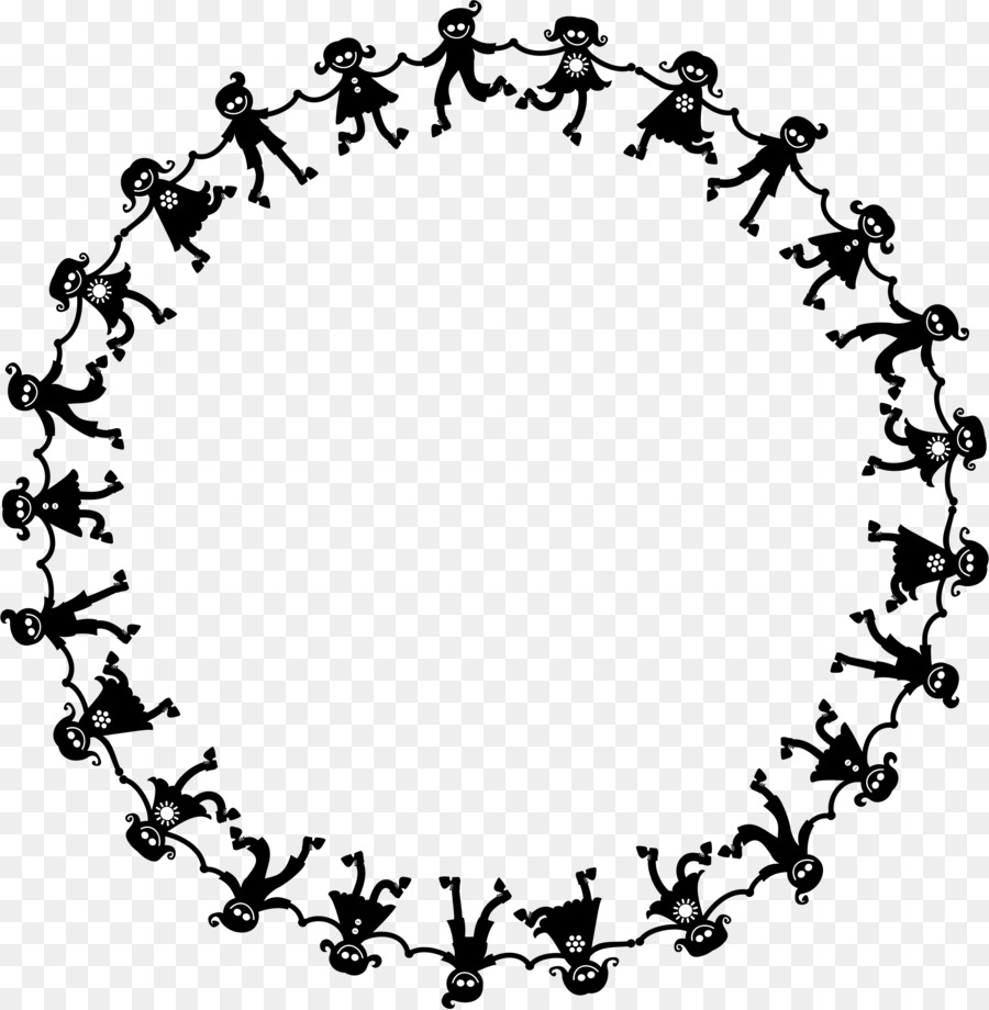 Circle of hands black and white clipart picture library stock Border Design Black And White clipart - Drawing, Child, Circle ... picture library stock